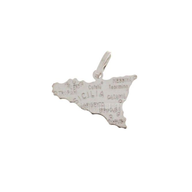 Ciondolo Sicilia Oro Bianco ELO0420OREF
