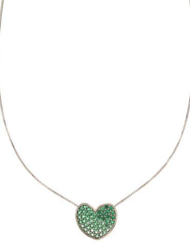 Collana Da Donna Cuore Verde Oro ELO0380OREF
