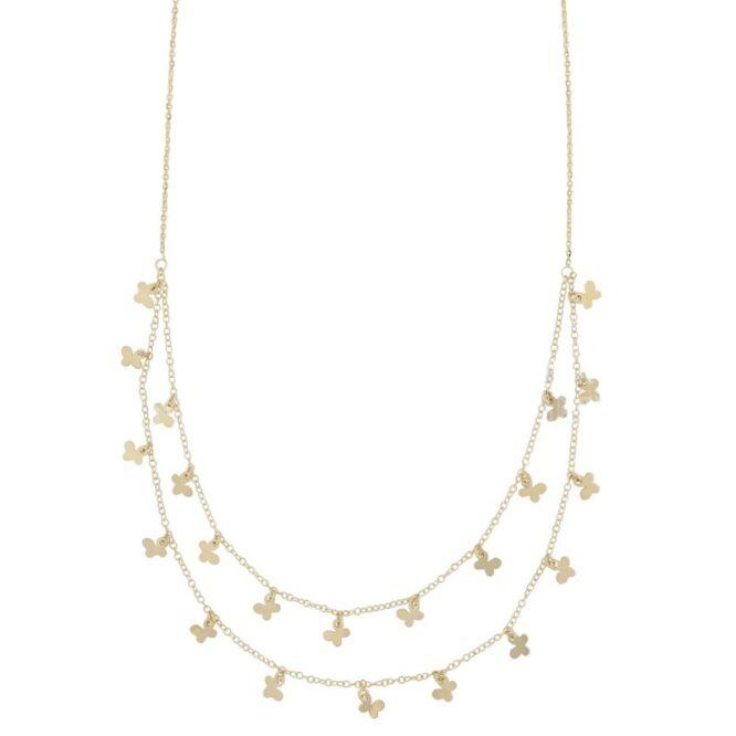 Collana Da Donna Farfalle Oro Giallo ELO0441OREF
