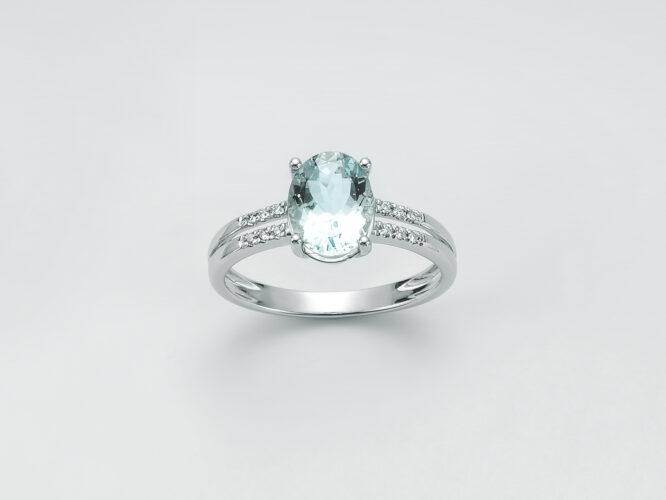 Anello Donna Miluna Acquamarina Diamanti LID3371