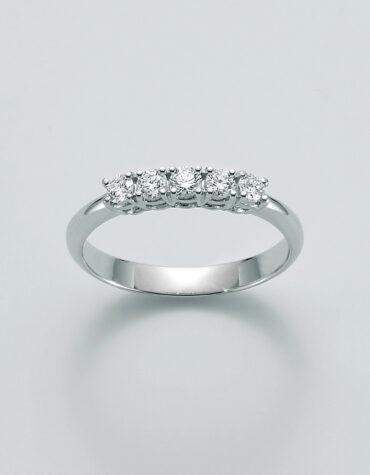 Anello Donna Miluna Veretta 5 Diamanti LID3228-12V5G7
