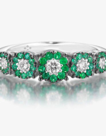 Anello Ubi Maior Diamonds Veretta Smeraldi e Diamanti