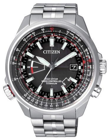 Orologio Da Polso Citizen Radiocontrollato Pilot Titanio Evolution 5 CB0140-58E