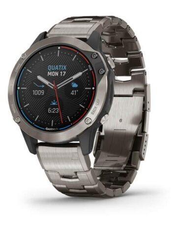 Orologio da polso Smartwatch Garmin Quatix 6 Titanium 010-02158-95