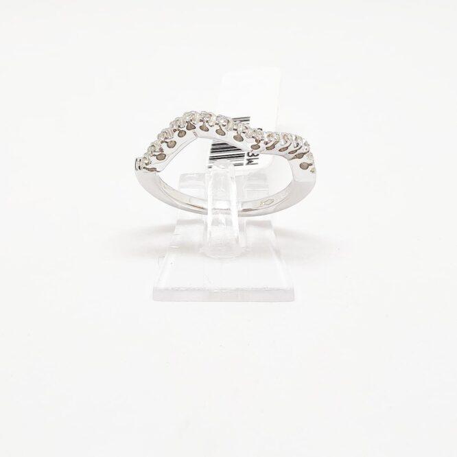 Anello Bruni Bossio M8373 Riviera Ondulata Diamanti