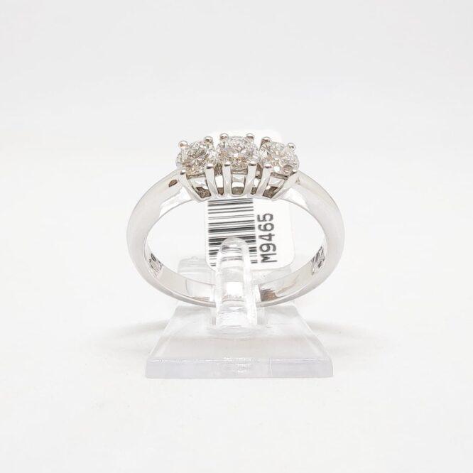 Anello Bruni Bossio Trilogy M9465 Diamanti Oro Bianco