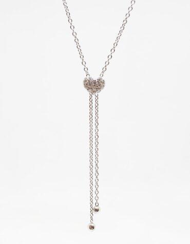 Collana Bruni Bossio M8835 Cuore Diamanti 0.10 G VVS