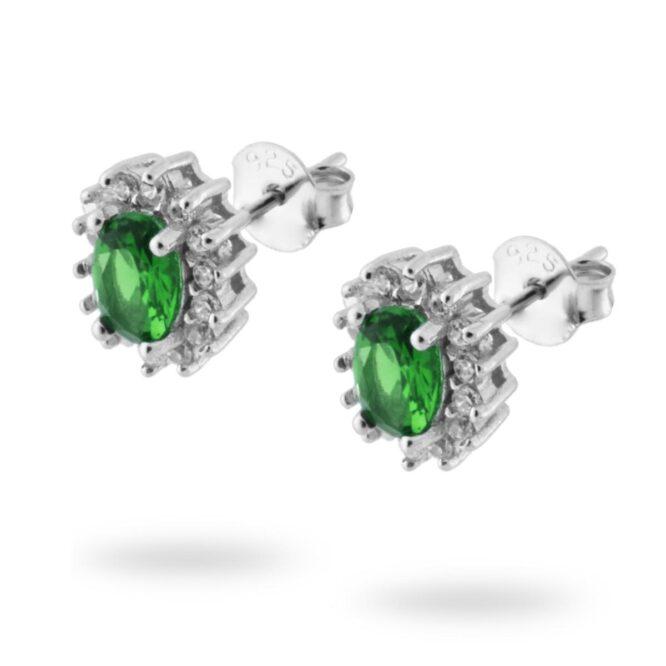Orecchini Kate Verde Smeraldo ELO010AG Argento