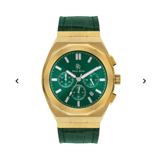 Orologio Da Polso Paul Rich Motorsport Green Gold Leather