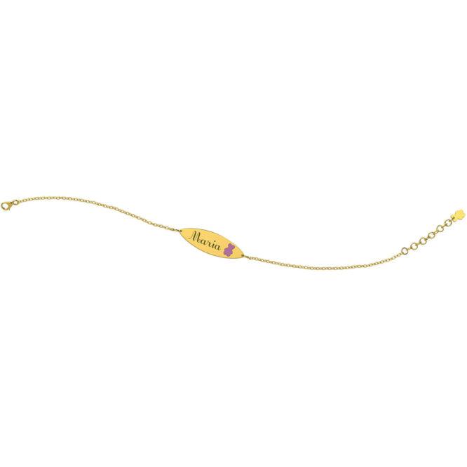 Bracciale Da Bambina Nanan NGLD0016 Oro Orsetto Lilla