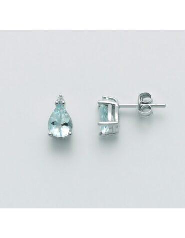 Orecchini Donna Miluna Acquamarina Diamanti ERD2492