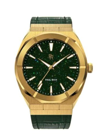 Orologio Da Polso Paul Rich Star Dust Green Gold Leather